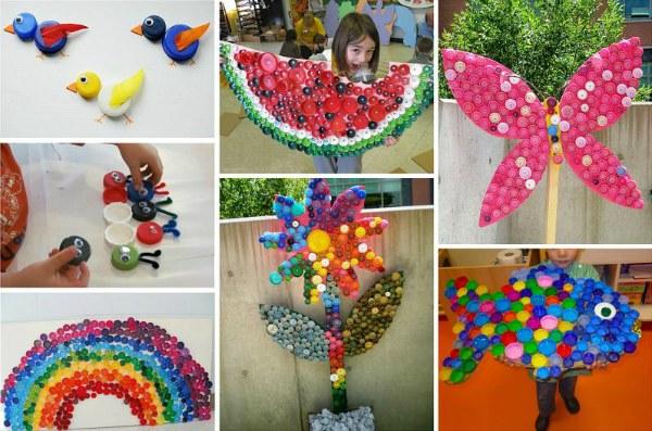 Креативне застосування кришок від пластикових пляшок