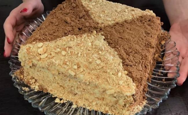 Улюблений торт «Сметанник» на швидку руку: без випічки