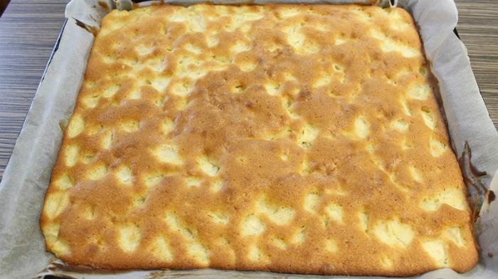 Очманілий здобний пиріг з яблуками, покроковий рецепт