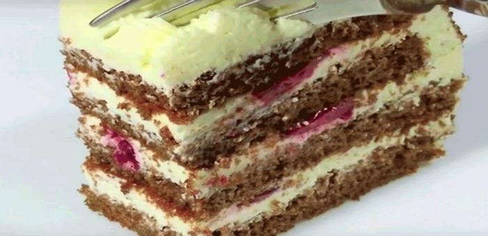 Незрівнянний сирний торт з вишнею - покроковий рецепт