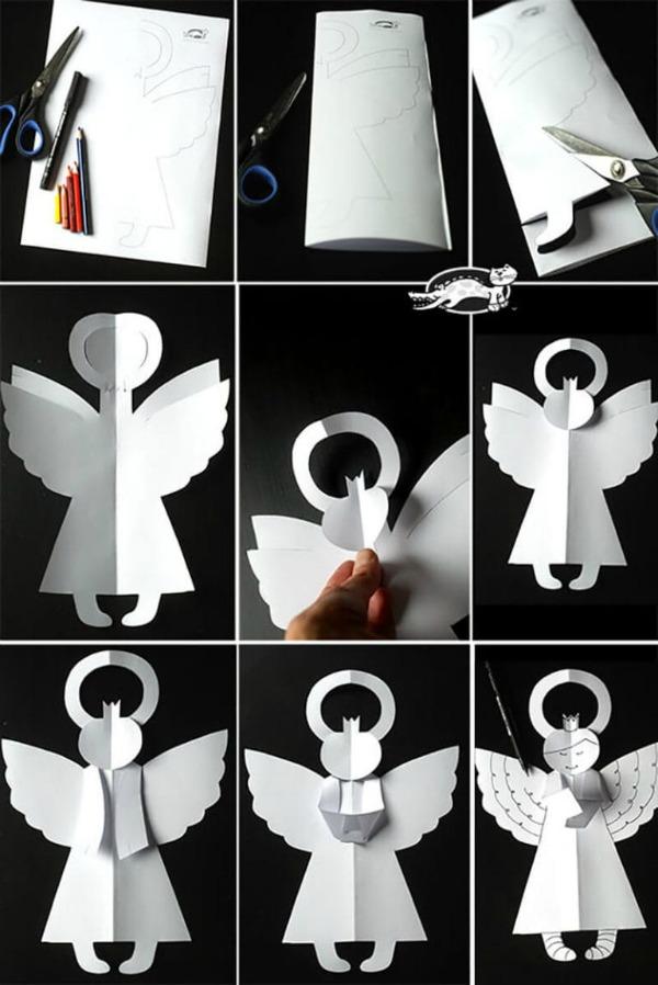 Різдвяні паперові янголи. Створюємо новорічний настрій самостійно