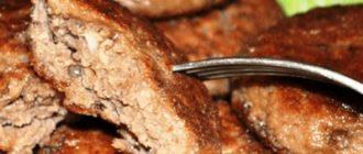 Печінково - картопляні котлети, рецепт приготування