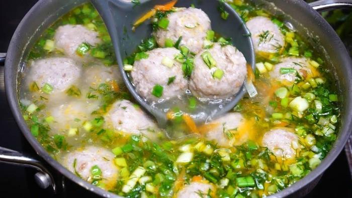 Суп з фрикадельками - рецепт