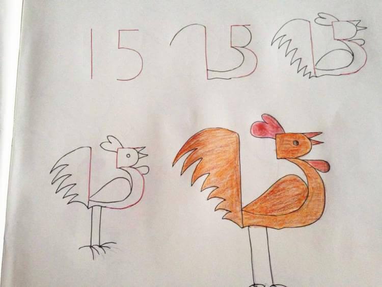 Вчимо дітей малювати за допомогою цифр