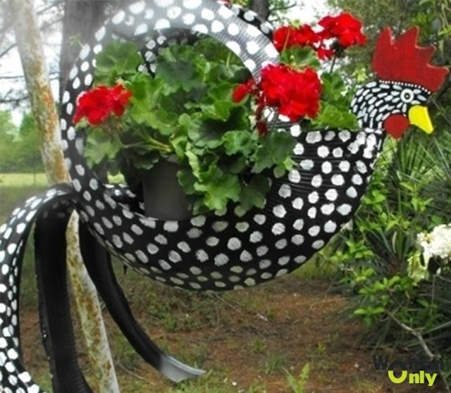25 яскравих і креативних ідей прикраси двору зі звичайних шин