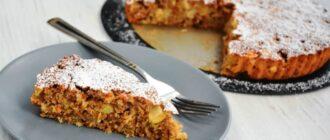 Корисний пиріг з яблук і вівсянки, рецепт
