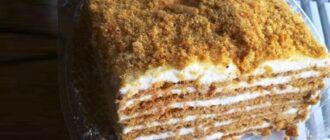 Медовий сметанник, рецепт