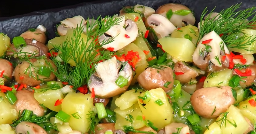 Простий закусочний салат, рецепт