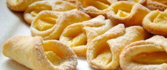 Сирне печиво з яблуками, рецепт
