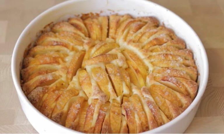 Яблучний пиріг з хрусткою скоринкою, рецепт