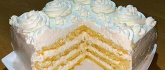 Хитрий торт з кремом - детальний рецепт