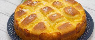 Повітряний пиріг з кремом - рецепт приготування