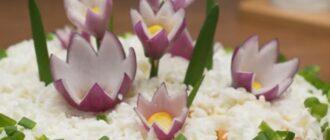 Салат «Полянка з квітами» - рецепт приготування