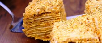Торт Наполеон за 20 хвилин - детальний рецепт