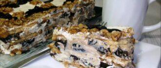 Торт з чорносливом і горіхами - детальний рецепт
