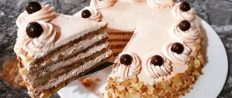 Торт зі смаком кави - рецепт приготування