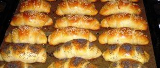 Домашні рогалики на кефірі - рецепт приготування