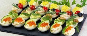 Фаршировані яйця - рецепт приготування
