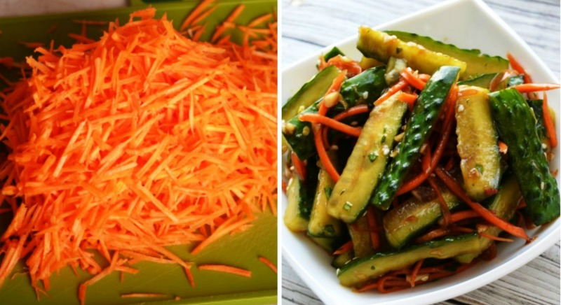 Гострий салат з огірків - рецепт приготування