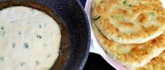 Коржі з зеленню на кефірі, рецепт приготування