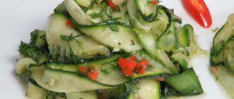 Молоді мариновані кабачки, рецепт приготування