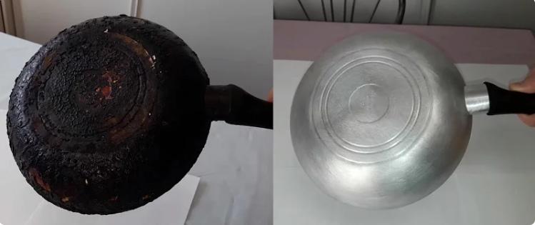 Очищення сковороди і каструлі - домашній метод