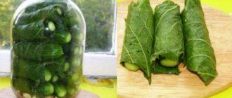 Пікантні огірки в листках хрону, рецепт приготування