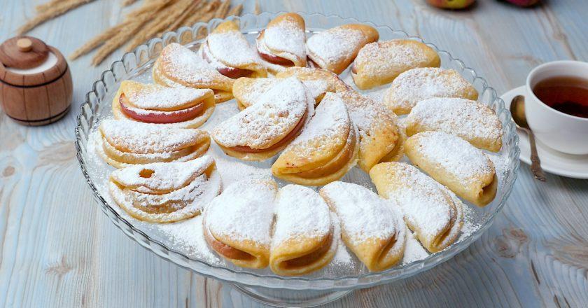 Сирне печиво з яблуками, рецепт приготування