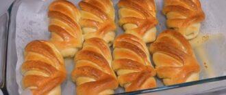 Здобні ванільні булочки - рецепт приготування