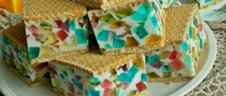 Желатиновий торт, рецепт приготування