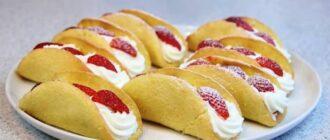 Бісквітні тістечка з полуницею, рецепт приготування