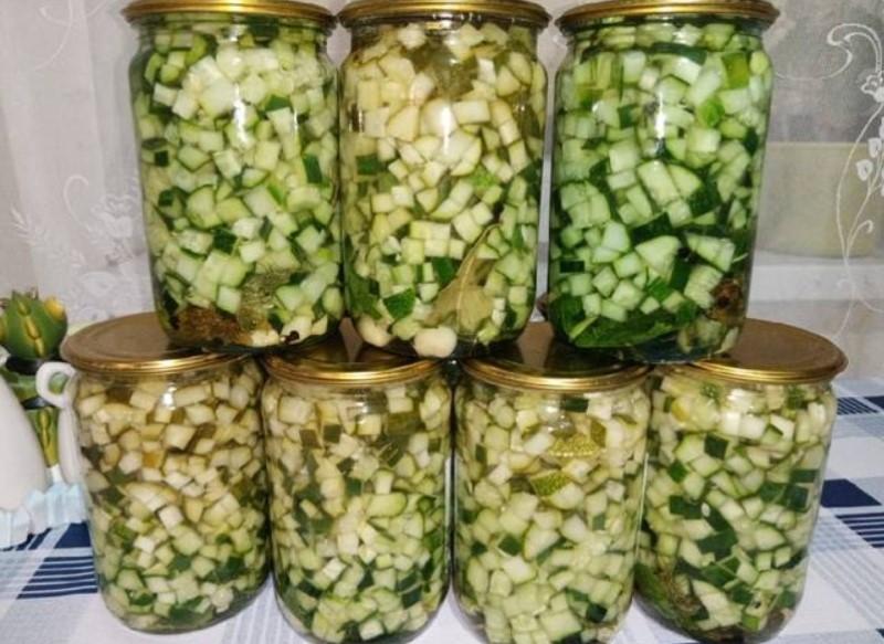 Огірки на зиму для будь-яких салатів, рецепт консервації