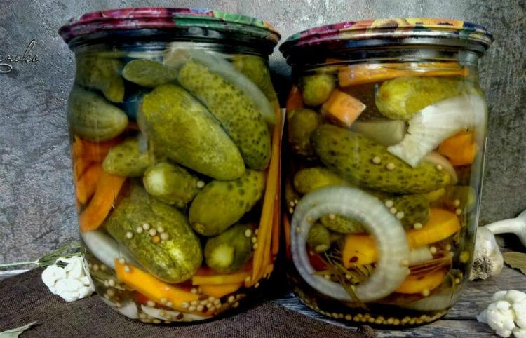 Огірки на зиму, рецепт приготування