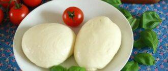 Сир Моцарелла, рецепт приготування