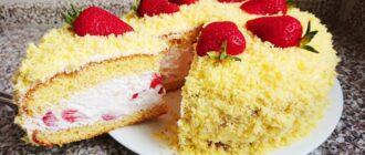 Торт «Полунична мімоза», рецепт приготування