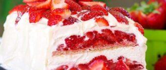 Торт зі свіжою полуницею, рецепт приготування