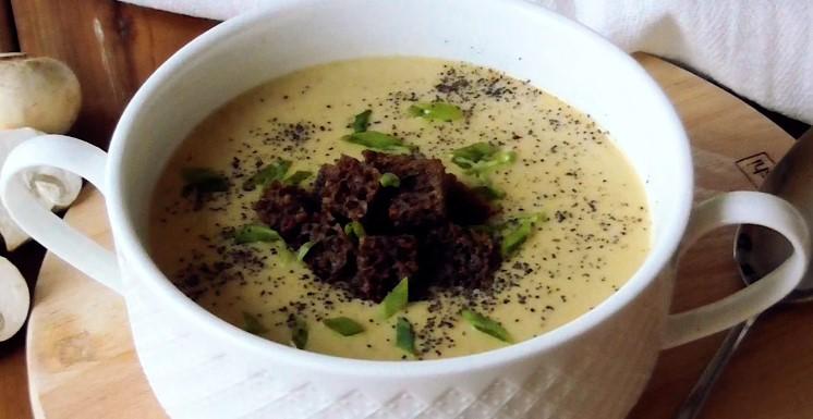 Грибний суп-пюре з вершками! Такий зігріваючий і ніжний!