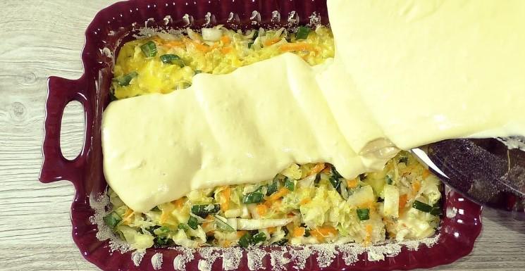 Заливний пиріг, замість пиріжків, можна готувати хоч кожен день: тільки начинку міняй