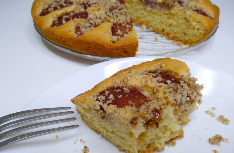 Пиріг вогонь зі слив. Нереально смачний і швидкий в приготуванні!